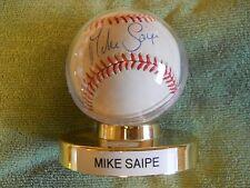 MIKE SAIPE AUTOGRAPHED SIGNED BASEBALL Pitcher Colorado Rockies