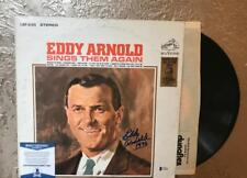 EDDY  ARNOLD   SINGS  THEM AGAIN  SIGNED   VINYL LP RECORD  BECKETT C76601