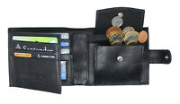 Man Wallet 100% Leather RFID SAFE Contactless Card Blocking ID Protection 895