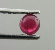 4mm ROUND CABOCHON NATURAL UNTREATED PIGEON BLOOD RUBY
