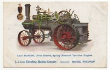 1910 Advertising Postcard for Case Spring Mounted Tractor Engine Racine WI