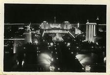 PHOTO ANCIENNE - VINTAGE SNAPSHOT - PARIS TROCADÉRO NUIT LUMIÈRE - NIGHT LIGHT