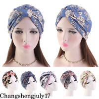 Women Cancer Hat Chemo Cap Muslim Hair Head Scarf Turban Head Wrap Cover Stretch