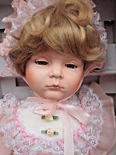 "William Tung Little Companion Porcelain Doll Katie 1992 20""  COA Box"
