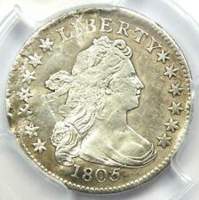 1805 Draped Bust Dime 10C - Certified PCGS Fine Details (Plugged) - Rare Coin!