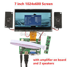 7'' 1024*600 Display Screen For Raspberry Pi + Driver Board+ Amplifier+ Speakers