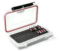 26 SD Memory Card Case Pouch with Custom Foam Waterproof Dust proof Clear case