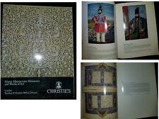 Christie's London 1989 catalog Islamic Manuscripts, Miniatures & Works of Art