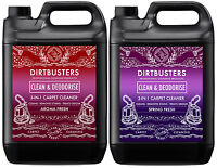 Carpet cleaning solution shampoo odour deodoriser Upholstery Cleaner 2x5L & vax
