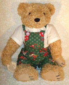 "1995 BEARLY PEOPLE CHERYL DE ROSE PLUSH 16"" CHRISTMAS HOLIDAY CLASSIC BEAR BILLY"