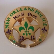NEW ORLEANS POLICE MARDI GRAS NOPD MINI BUTTON PIN TIE TACK 2014 CARNIVAL NOPD !