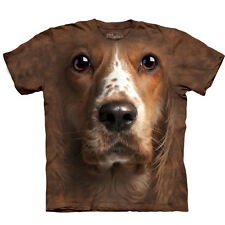 American Cocker Spaniel Face Head T-shirt by The Mountain Adult Sizes