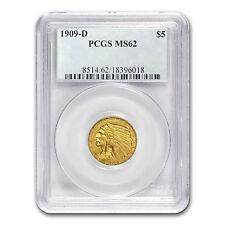 $5 Indian Gold Half Eagle Coin - Random Year - MS-62 PCGS - SKU #12920