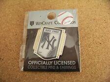 2015 NY New York Yankees logo vertical banner lapel pin MLB