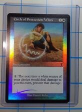 1x HOLDER & 1x MTG Circle of Protection White 7th Edition Foil - MTG - NM