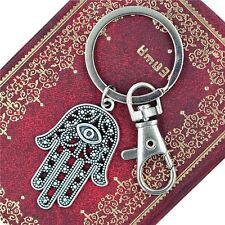 Fatima Hamsa Hand Viel Glück Auge Anhänger Schlüsselanhänger Ring GeschenkZD