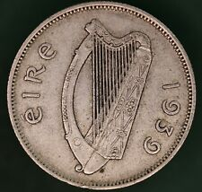 1939 Irish EIRE Ireland Florin/ two shilling 2s coin, 75% silver *[17654]