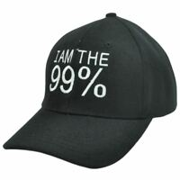 99% STRONG NEW YORK CITY NYC OCCUPY WALL STREET OWS PROTEST BLACK WHITE HAT CAP
