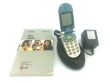 Vintage Sprint PCS Flip Phone LG TP5250 User Guide Charging Stand Power Adapter