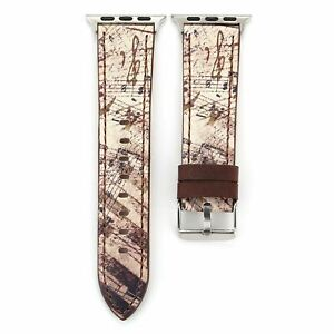 Retro Floral Band for Apple Watch Strap iWatch 6 5 4 3 2 Stylish PU Leather Belt