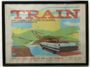 """Train Picasso At The Wheel Summer Tour 2015 Framed Poster 25x19"""""""