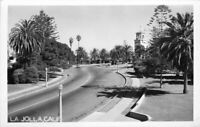 Automobiles La Jolla California RPPC Photo Postcard Street Scene 12802