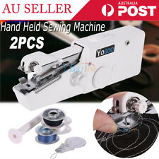 2pc Mini Portable Handheld Sewing Machine Hand Held Stitch Home Clothes Cordless