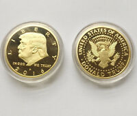 2016 US President Donald Trump Inaugural Gold EAGLE Commemorative Novelty Coin