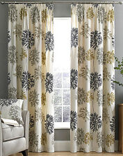 """Dandelion print 3"""" Pencil Pleat Lined Curtains, NATURAL or PINK (NEW BLUE) STOCK"""