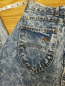 Vintage 90s Chic 100% Cotton Made In USA High Rise Acid Wash Mom Jean 5 Petite