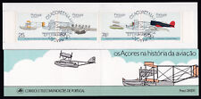 Aircraft Plane Aviation History Stamps Booklet Portugal 1987 Cto