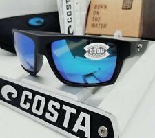 580G - COSTA DEL MAR matte black/blue mirror BLOKE POLARIZED sunglasses NEW!