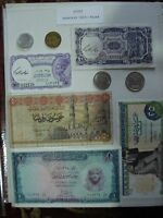 National Bank Of Egypt 5,10,25, 50 Piastres & 1 Pound Banknotes & Coins