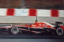 Jules Bianchi signé 12x8, F1 Marussia-MR02, Barcelone Pre-Season Test 2013