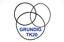 COURROIES SET GRUNDIG TK20 MAGNETOPHONE A BANDE EXTRA FORT NEUF FABRIQUE TK 20