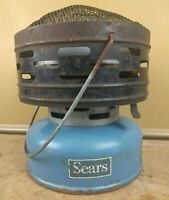 Vintage 1967 Blue Sears 476 74990 Coleman Catalytic Gas Heater Camping Hunting