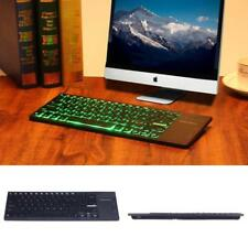 Illuminated Wireless USB Keyboard Touchpad Backlight PC TV Android Rechargeable