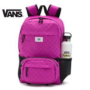 Vans 3 in 1 Transplant Backpack Crossbody Waist Pack Laptop Bag - Pink Black