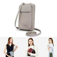 Fashion Women Girls Leather Small Crossbody Cellphone Bag Card Slot Shoulder Bag