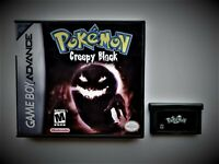 Pokemon Creepy Black Game Boy Advance GBA Game / Case - Scary Fan Mod (USA)