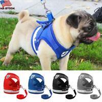 Pets Puppy Leash Control Harness Dog Cat Soft Mesh Walk Collar Safety Strap Vest