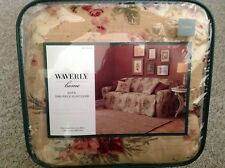 Ballad bouquet Tea stain Discontinued Waverly flowers Sofa one piece Slipcover