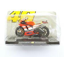 MOTO 1/18 DUCATI DESMOSEDICI GP 11 N°46 WORLD CHAMPIONSHIP 2011 10,5 cm