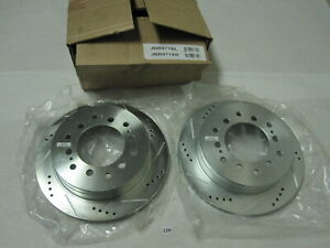 Power Stop Extreme Performance Drilled And Slotted Brake Rotors PAIR Left Right