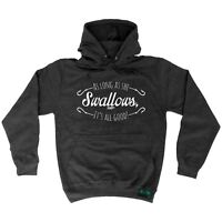 Fishing Hoodie - As Long As She Swallows - Rude Adult Offensive HOODY