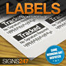 TRACKED STICKERS - LABELS Barcode Postal Stickers INR tracking post delivery
