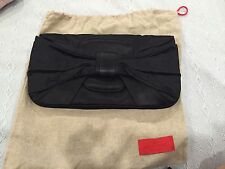 Valentino Black Satin Evening Clutch Wristlet Dust Bag Included Authentic!