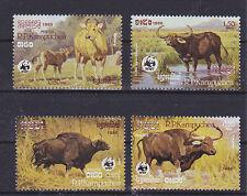 v1869 Kambodscha/ WWF 1986 Wildrinder  MiNr 823/26 **