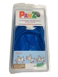 PAWZ Rubber Dog Boots Medium 12 Pack • Reusable • Waterproof NEW