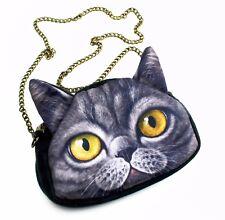 Cute 3D Print Cat Purse Crossbody Small Bag (KT00066) Top Quality  US Seller